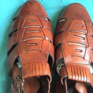 Mens Brown Leather Pepper Gate Shoes