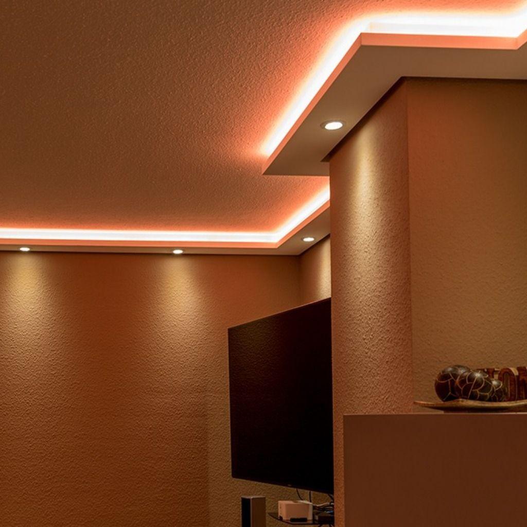 Pin By Tota On ديكورات With Images Basement Lighting Living Room Lighting Indirect Lighting