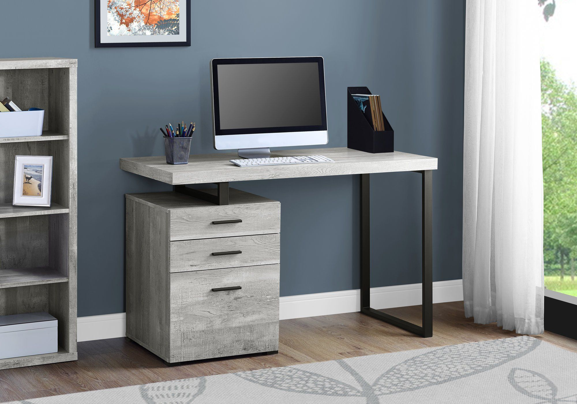 Gray And Black Metal Small Office Desk Cubes In 2020 Small