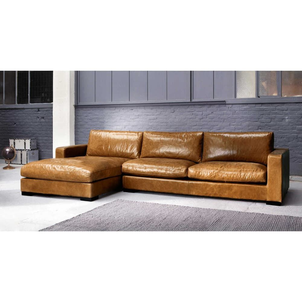 5 Seater Vintage Leather Corner Sofa Camel In 2019 Chair