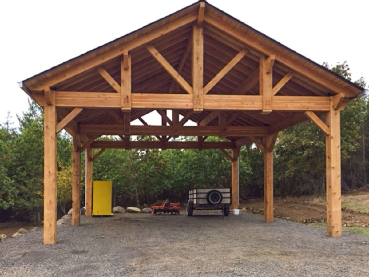Building an easy diy rv cover backyard pavilion diy