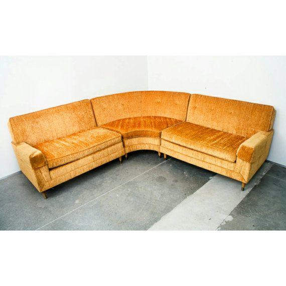 Mid century modern Sectional Sofa couch L shape Kroehler Danish Vintage Corner  sc 1 st  Pinterest : danish modern sectional - Sectionals, Sofas & Couches