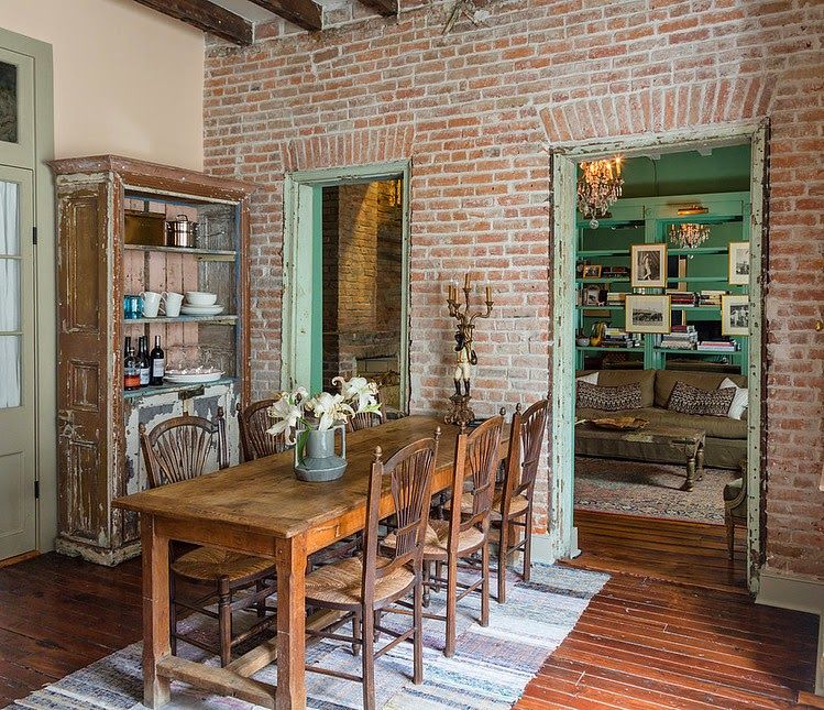 Ambiance Retro A La Nouvelle Orleans Interieur Moderne De Cuisine Sejour Cuisine Interieur Maison