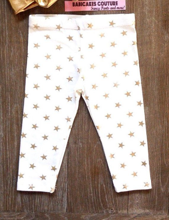 Pin for Later: 26 Metallic Baby Products to Keep All of Your Baby Gear on Trend Star Leggings Star Leggings ($26)