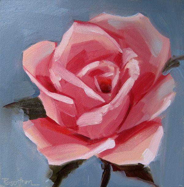 simple rose painting art