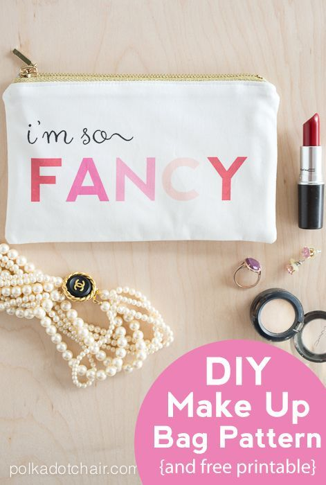 I\'m So Fancy, MakeUp Bag Pattern on Polka Dot Chair | Bag sewing ...