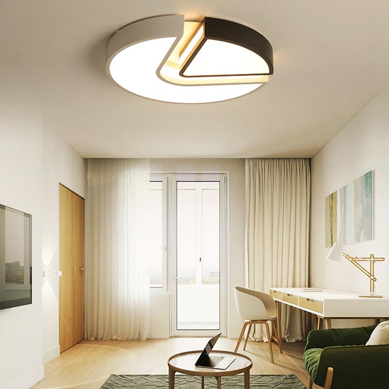 Contemporary Led Flush Mount Circualr Ceiling Light Creative Lamp