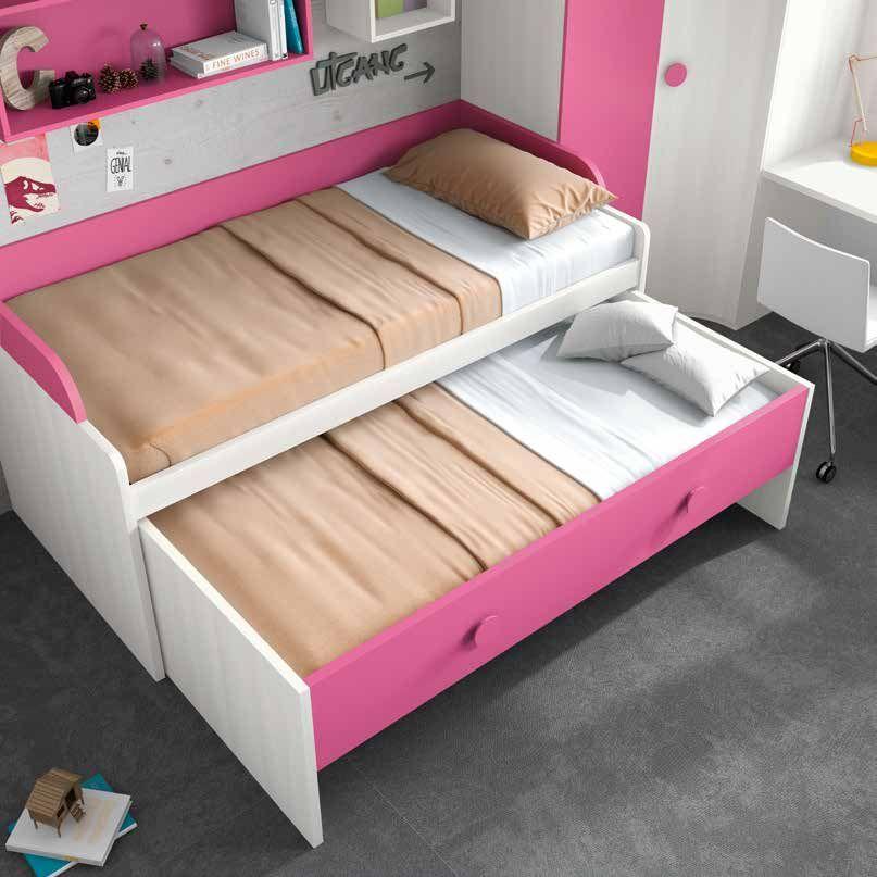 Habitaciones con poco espacio para dos camas? Solución: cama nido ...