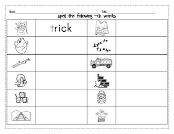 activities and worksheets for the ending sound ck  2! a line  &