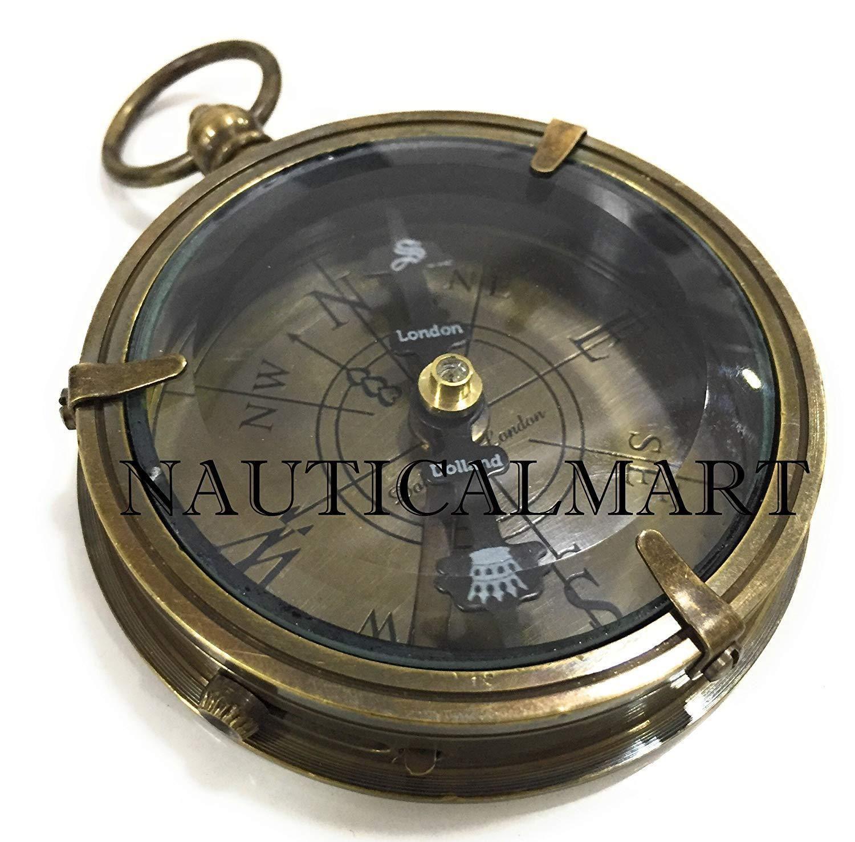 Vintage Brass Antique Navigational Compass By Larp Armory Ebay Vintage Brass Compass Brass