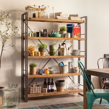 regal manchester ii akazie massiv metall kitchen remodel shelves home office furniture