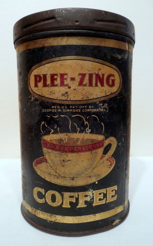Vintage Plee Zing 1 Pound Advertising Coffee Tin | eBay