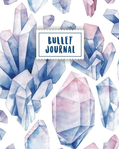 Bullet Journal Blue Gemstone Watercolor 150 Dot Grid P