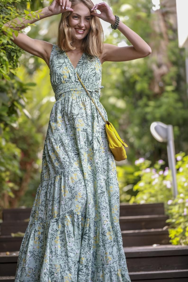 Mint Green Floral Print Dress Green Maxi Dress Green Bridesmaid Dress Rustic Women S Summer Dress Boho Flare Maxi Dress Carrie Dress Stylish Dresses For Girls Flowy Summer Dresses Floral Dresses Long [ 1191 x 794 Pixel ]