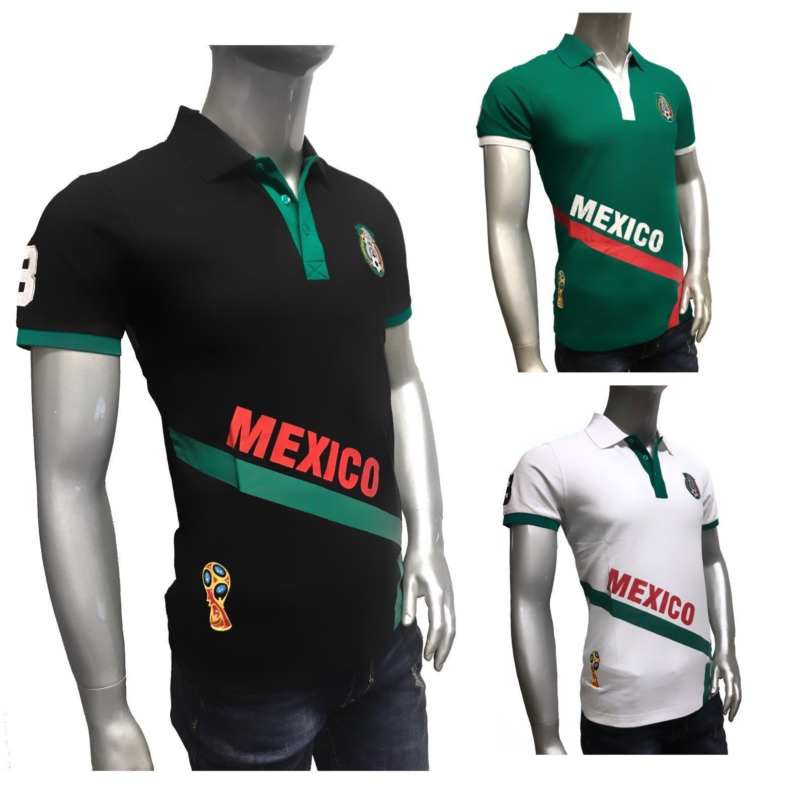 f9c3c077b98 Mexico 2018 World Cup Russia Soccer Jersey Green Mundial Rusia 2018 Polo  Shirt Discount Price 39.90