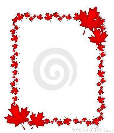 Google Image Result For Https Thumbs Dreamstime Com Z Canadian Day Maple Leaf Border 4737876 Jpg In 2020 Leaf Border Maple Leaf Canada Day