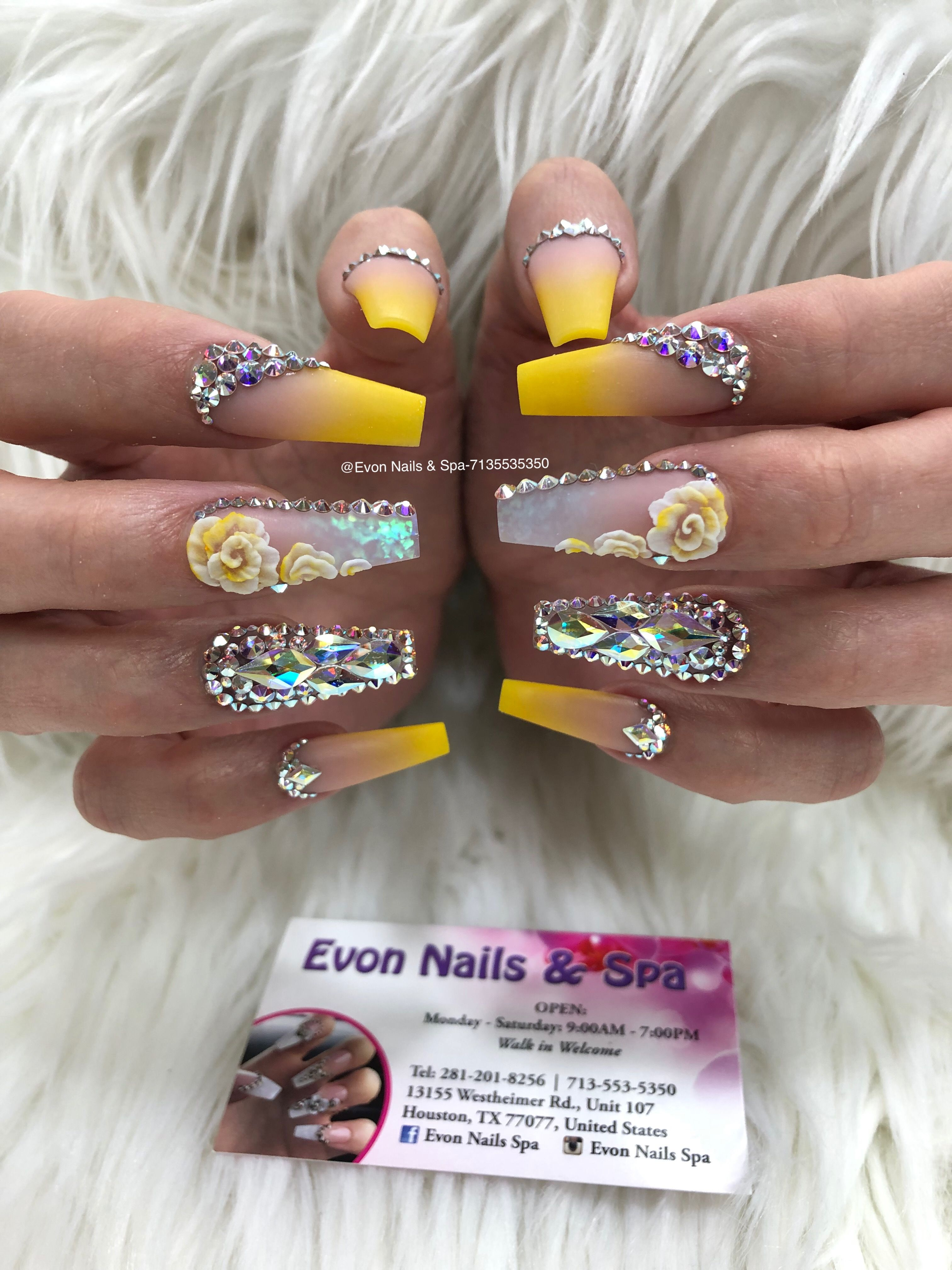 Pin By Evon Nails Spa On Evon Nails Spa Pink Glitter Nails