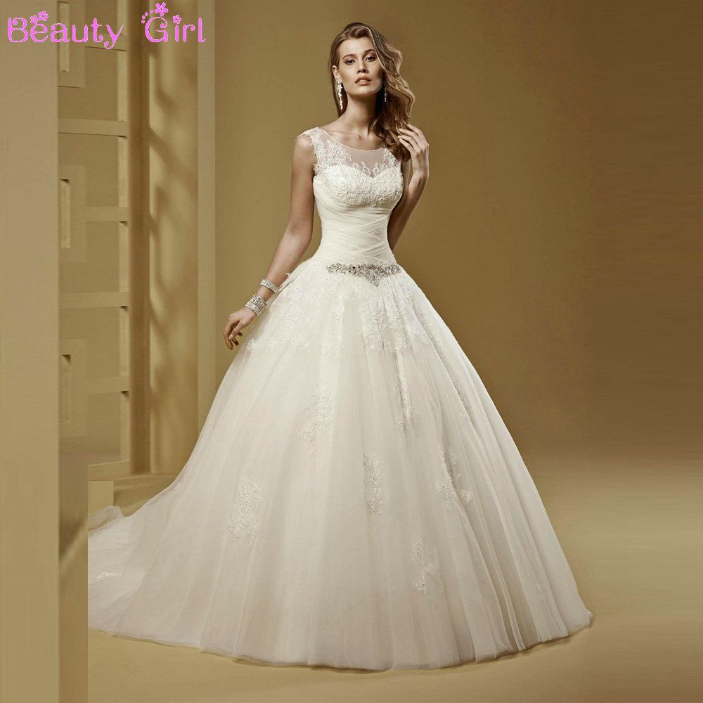 2018 Sheer top Wedding Dress - Wedding Dresses for Guests Check more ...