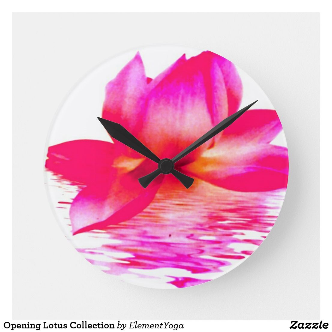 Opening Lotus Collection Round Clock Clock Wall Clock Price