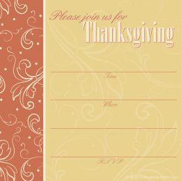 free printable thanksgiving invitations templates thanksgiving