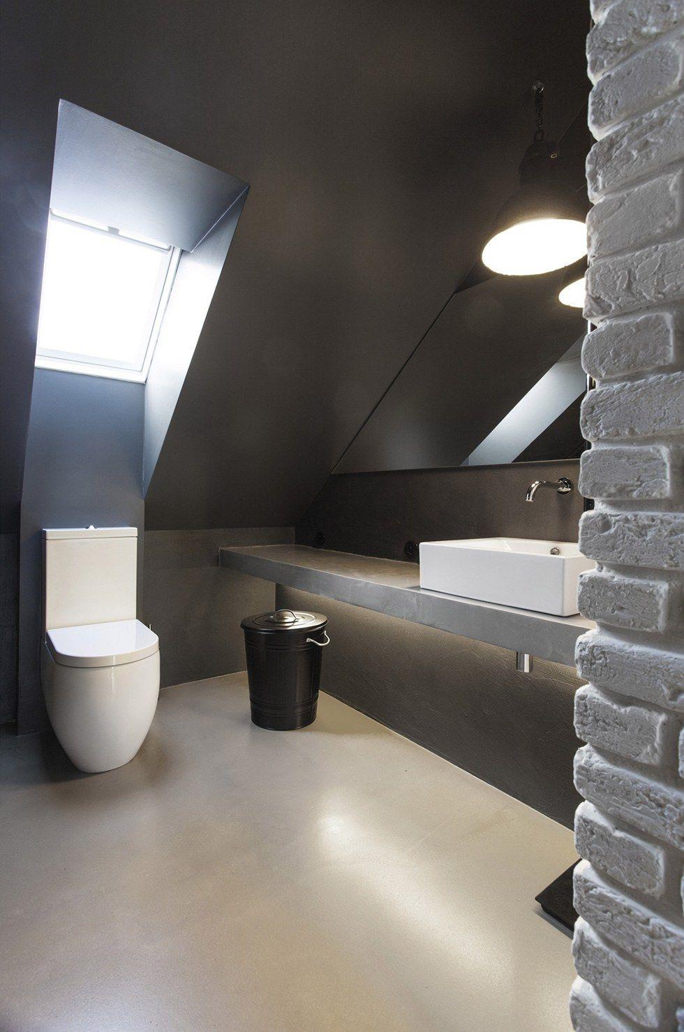 Na podlaze byl použit litý beton. Architektonické studio SMLXL
