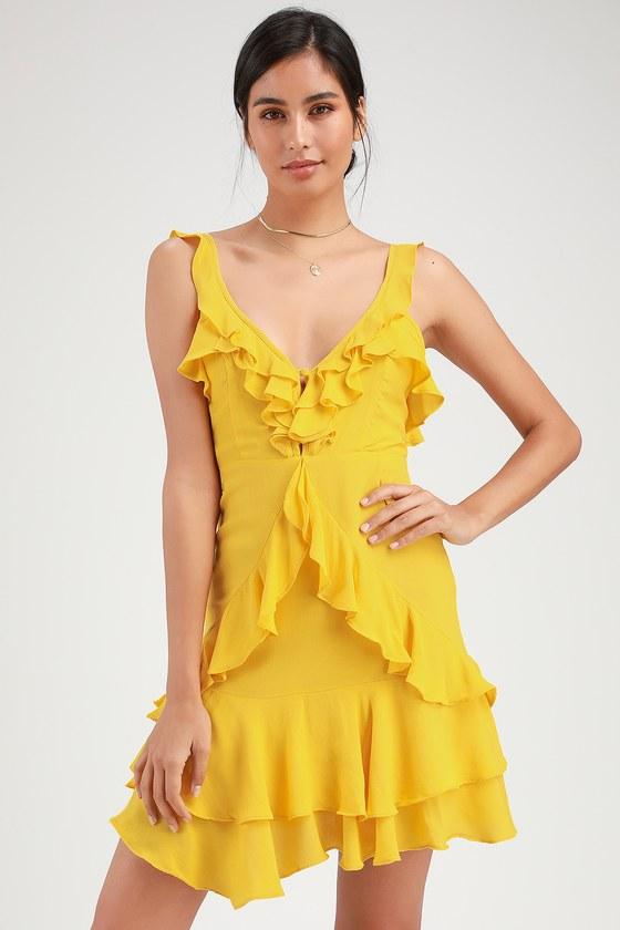 33++ Yellow ruffle dress ideas