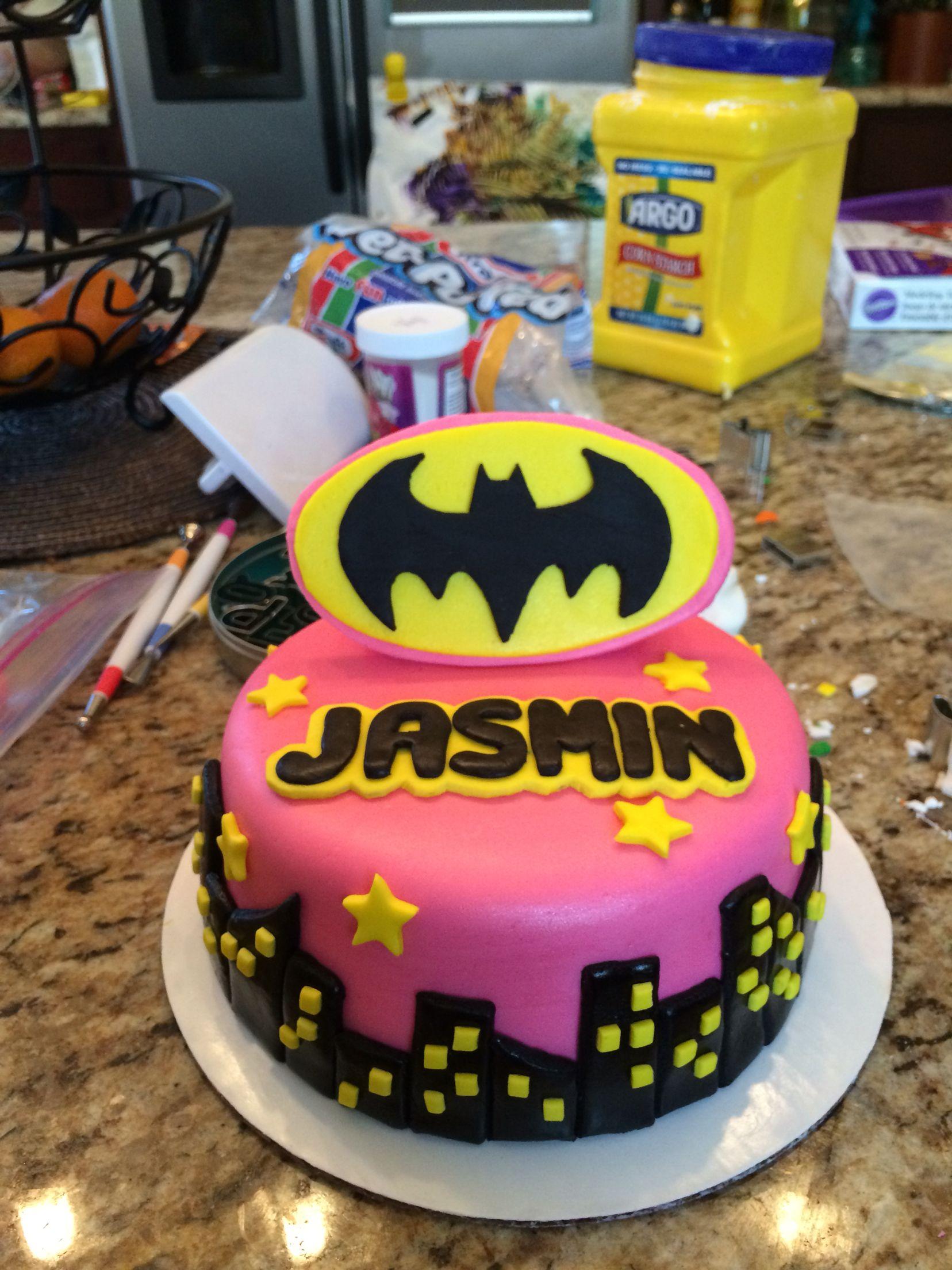 Batgirl Cake to Pin on Pinterest PinsDaddy
