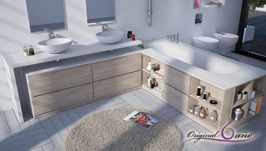 Lavabos de resina solid surface para decorar cuartos de for Cuartos de bano modernos