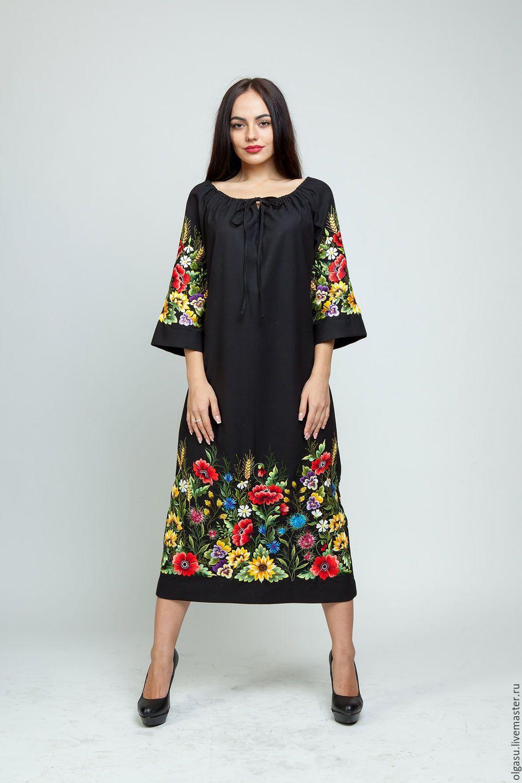 3b7ed0ff9d0 Купить или заказать Вышитое летнее платье