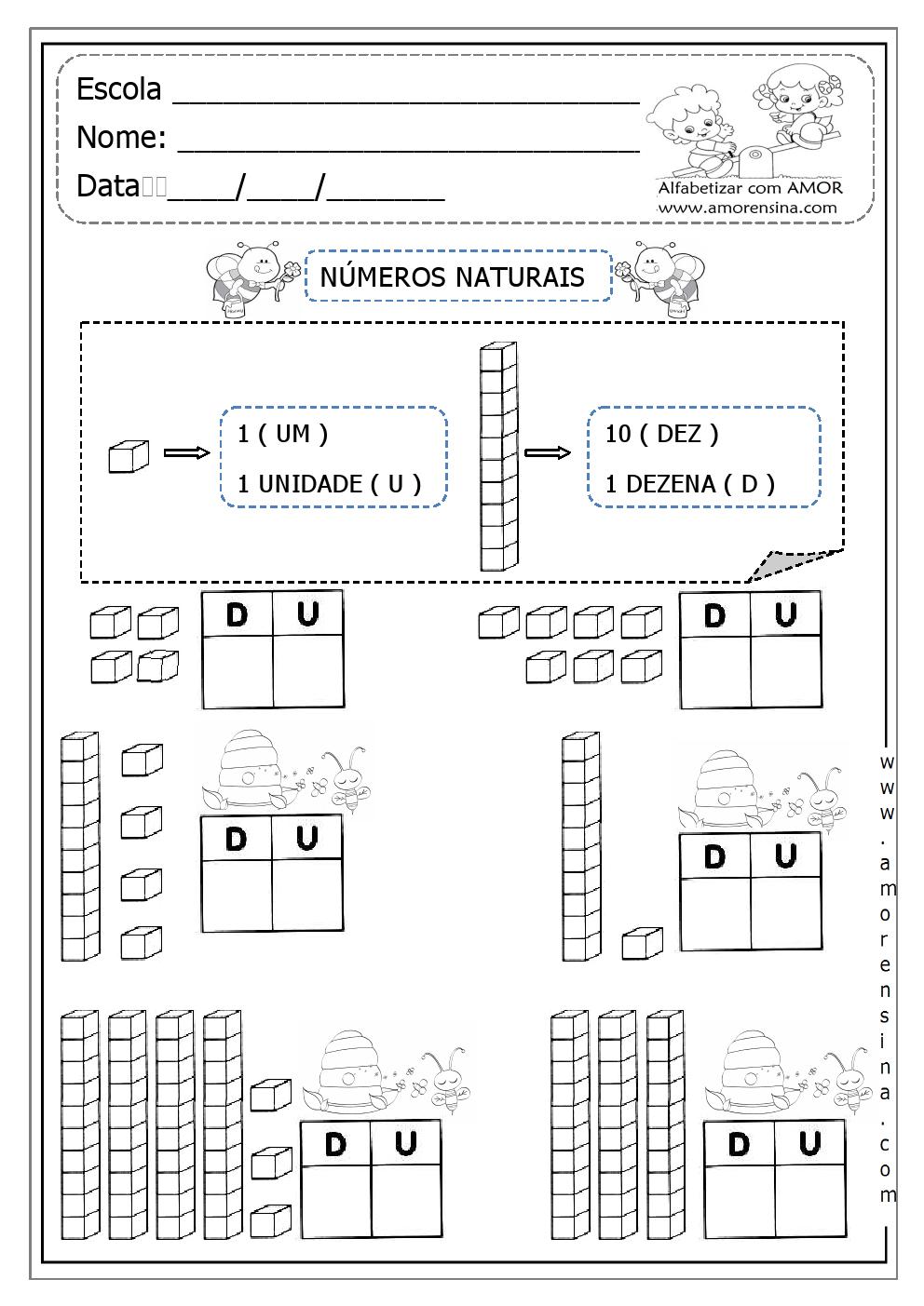Alfabetizar com AMOR: ENTENDENDO UNIDADES E DEZENAS COM MATERIAL ...