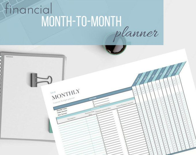 monthly budget planner template organize your finances and your