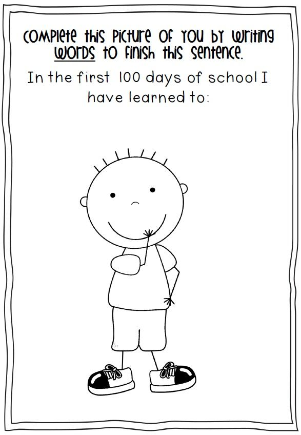 100th Day of School Printables - FIRST AND SECOND GRADE | Winter und ...