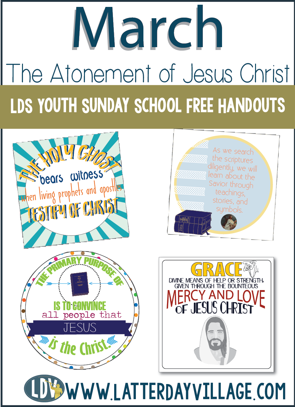 FREE handouts for the Youth Sunday School lesson  #March