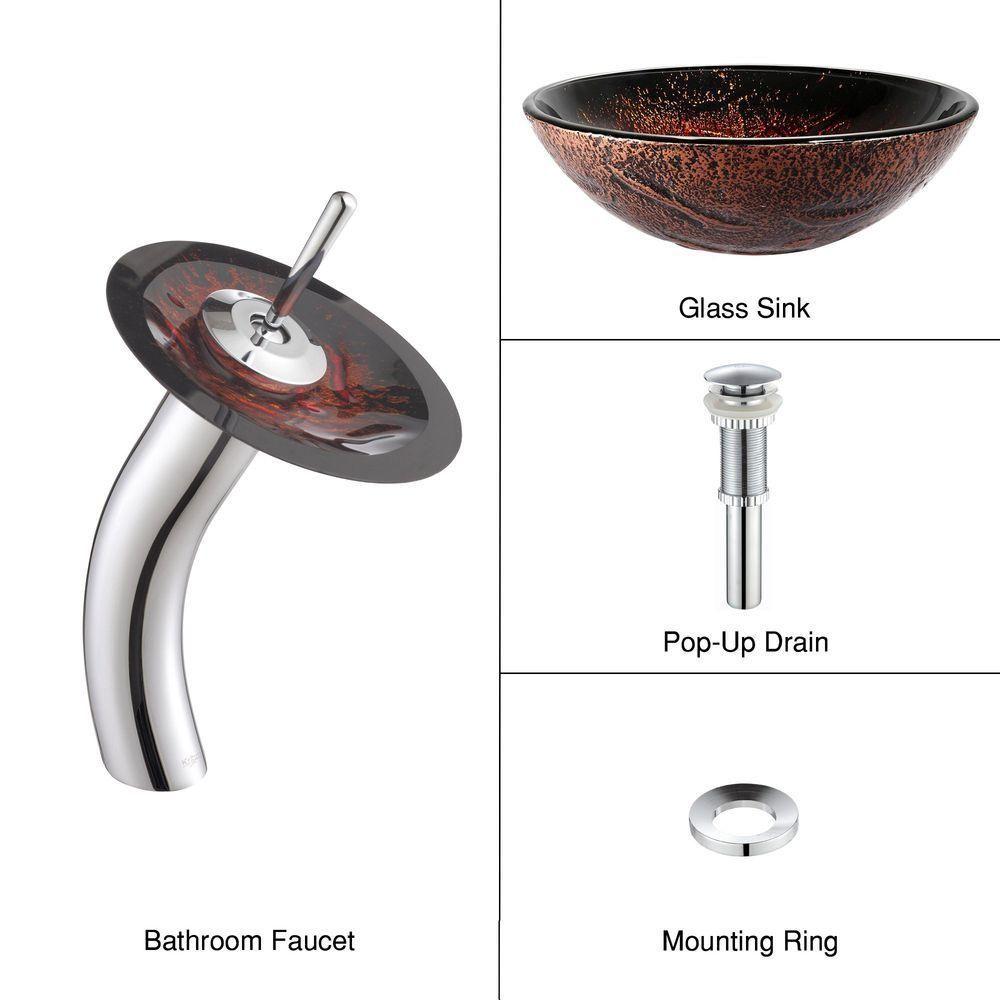 Bosconi Bathroom Vanities 48 Double Vanity Set With Square Vessel Sinks Glass Vessel Sinks Glass Bathroom Sink Waterfall Faucet