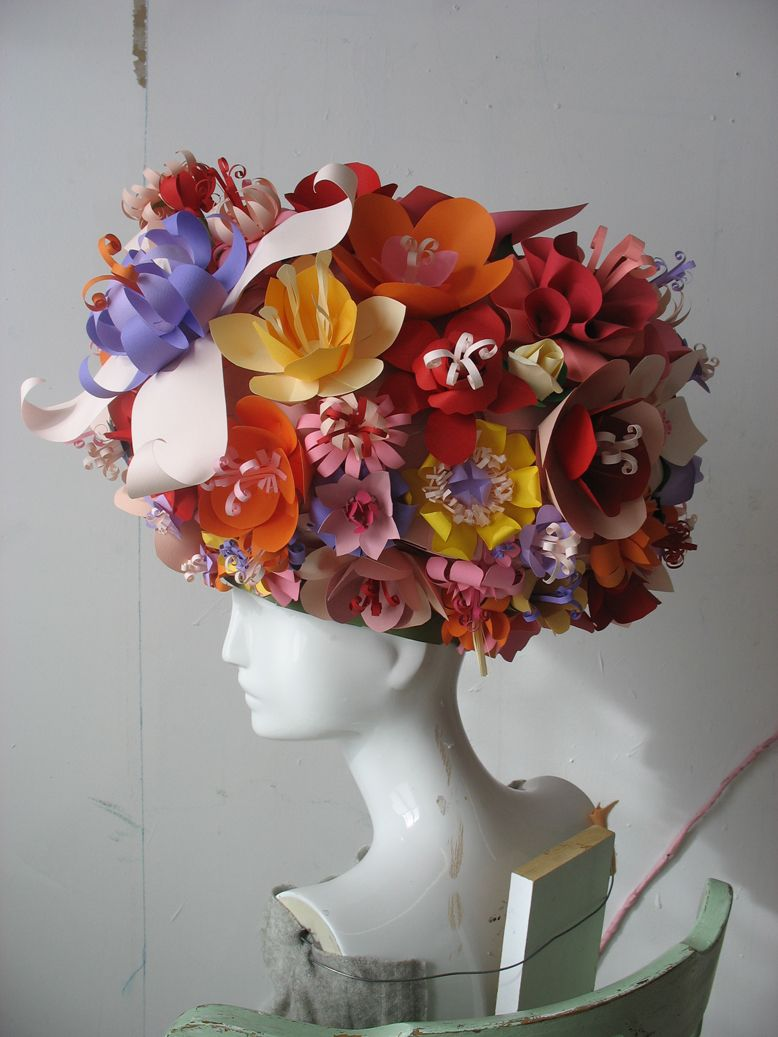 Paper flower hat art de papier pinterest the box mom and flower paper flower hat dhlflorist Images
