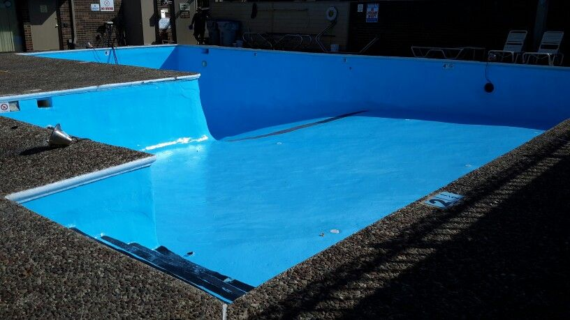 Commercial Painting Epoxy Dawn Blue 2014 Pool Paint Swimming