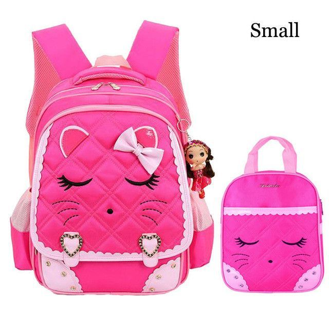 c606be64dc Cute Cat Girls School Bags Children Backpack Primary Bookbag Orthopedic  Princess Schoolbags Mochila Infantil sac a dos enfant
