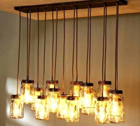 How to bring light to your life! #hanginglights #furniture #upcycle
