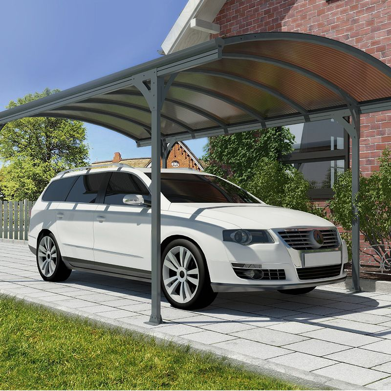 Costco UK - Palram Vitoria 5000 Aluminium and Polycarbonate Carport & Costco UK - Palram Vitoria 5000 Aluminium and Polycarbonate ...