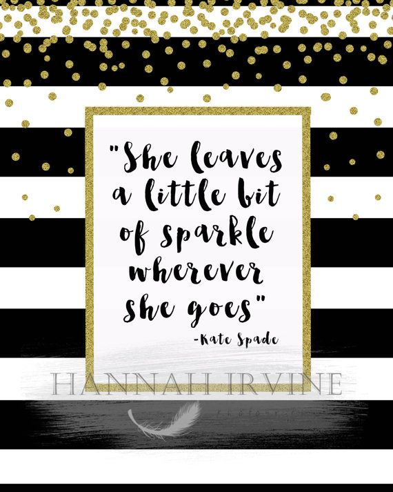 Kate Spade She Leaves a Little Bit of Sparkle Wherever She Goes Digital Wall Art #katespadewallpaper