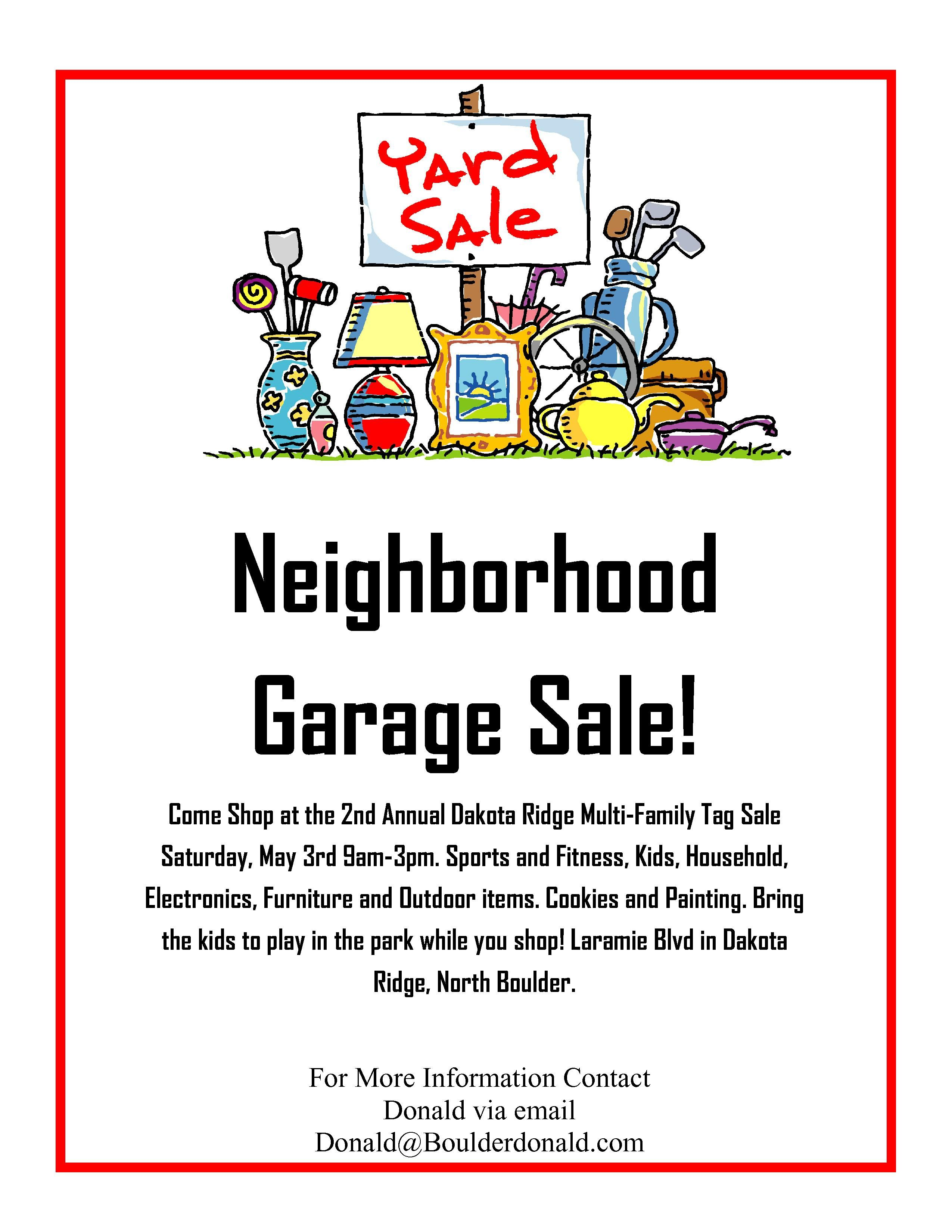 Dakota Ridge Community Garage Sale  May Rd   Oh Yeah ItS