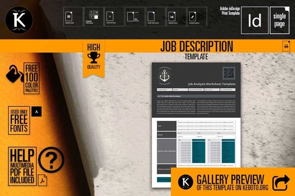 Job Description Template - job description template
