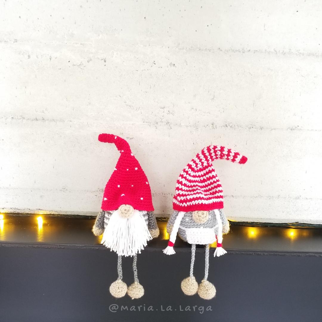 Patrón Gratis de Gnomos Navideños. / Free Crochet Pattern Christmas ...