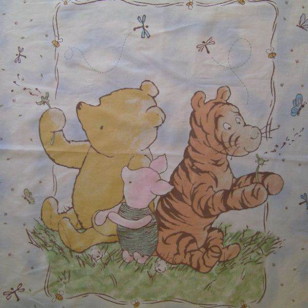 Classic Winnie The Pooh Quilt Fabric Panel To Sew Winnie