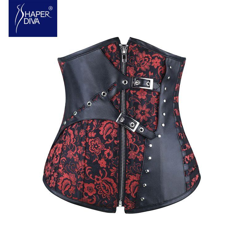 Shaper diva Acciaio ha disossato sexy steampunk corsetto sottoseno corsetti e bustini donne corsetto vita cincher corsetto