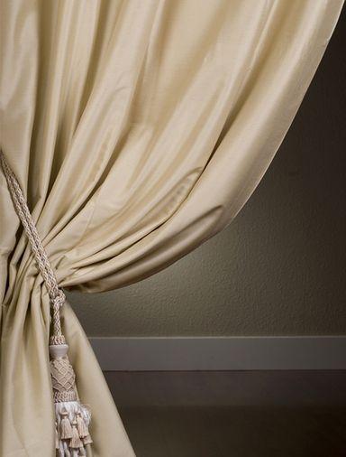 Signature Beige Italian Cotton Silk Curtain Silk Curtains