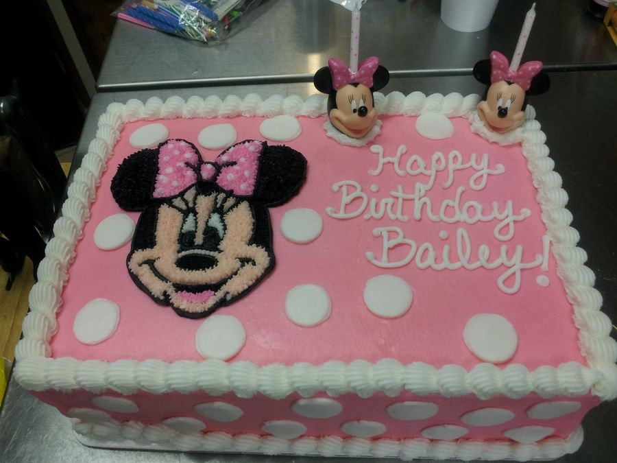Minnie Mouse Sheet Cakes Minnie Mouse Cake Stuff Pinterest