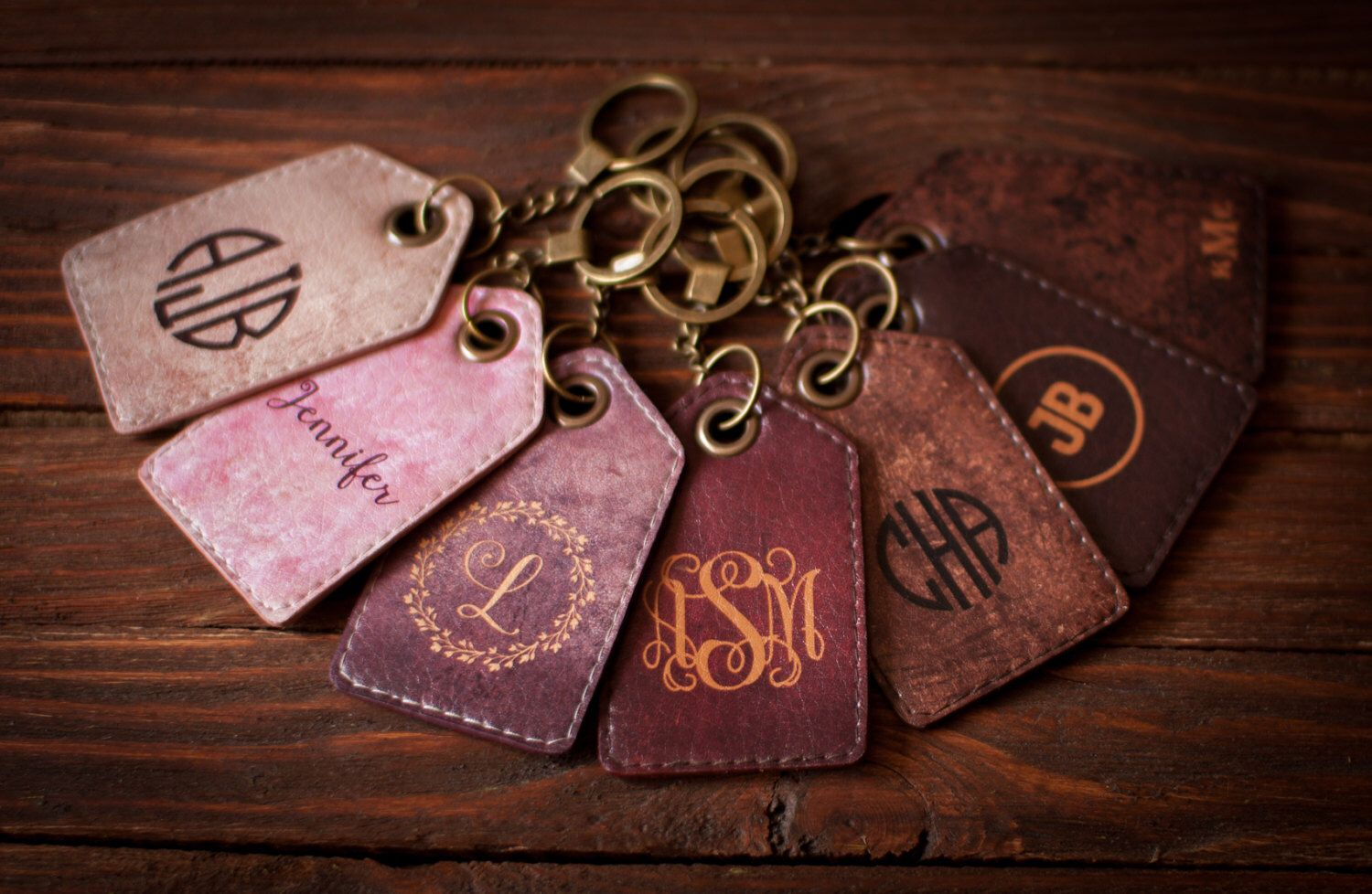 Luggage tag wedding favors keychain Personalized luggage tag Leather ...
