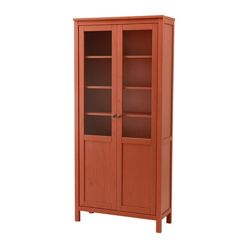 Merveilleux HEMNES Cabinet With Panel/glass Door, Red Brown Red Brown 35 3/8x77 1/2