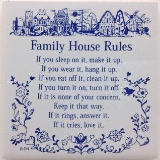 Magnetic Tiles Sayings: Family House Rules